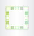 green eco frame abstract background vector image