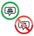 Use group message permission signs vector image