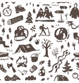 Camping - seamless background vector image
