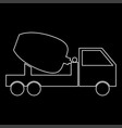 cement mixers truck white color path icon vector image
