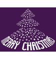 christmas tree from snowflakes with text vector image