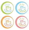 Coffee bar colorful logo desig vector image