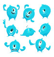 colored monster in cartoon style different vector image