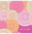 doodle circle texture frame corner pattern vector image