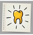 Gold tooth doodle vector image