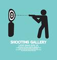 Gun Athlete At Shooting Gallery Symbol vector image