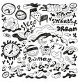 nights sleep - doodles set vector image