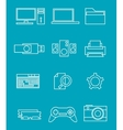 PC line icons vector image