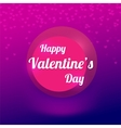 Purple background with blurry hearts vector image
