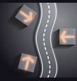 Road and traffic signs vector image