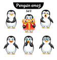 set of cute penguin characters set 2 vector image