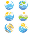 set of icons - travel vector image