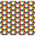 rainbow hexagon seamless pattern vector image