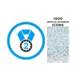Second Place Rounded Icon with 1000 Bonus Icons vector image