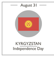 Kyrgyzstan Independence Day vector image