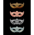 Beautiful set mask of lace Mardi Gras vector image