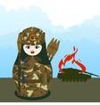 Matryoshka grenade thrower vector image vector image