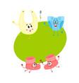 Funny baby booties diaper bib characters infant vector image