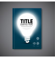 book cover template with shining bulb vector image