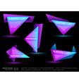 origami triangle vector image