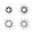 Hipster style vintage star burst with ray vector image vector image