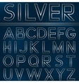 Silver alphabet letters vector image