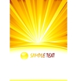 abstract sunny banner with glass sphere vector image