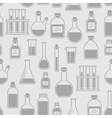 chemical glassware seamless pattern vector image