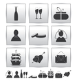collection web icon Set wedding gift vector image