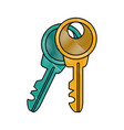 door keys isolated vector image