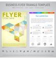 Flyer Design Template vector image