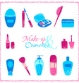 Make-up and cosmetics icon set vector image