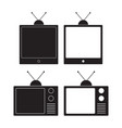 old television icon monitor tv vector image