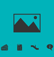 photograph icon flat vector image