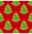 Seamless pattern Image of Christmas tree on a red vector image