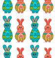Seamless pattern with Easter bunny-11 vector image