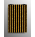 Vertical Poster Parallel Gold Sequins Lines vector image