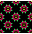 Abstract flower seamless pattern vector image vector image