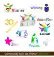 Community pack vector image vector image