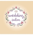 Wedding salon Vintage logo vector image