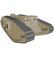 mark iv British tank we vector image vector image