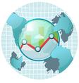 Stock Market World Symbol Icon vector image