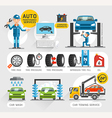 Auto Maintenance Services icons vector image vector image