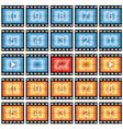 film strip stills vector image