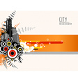Abstract template with city scape vector image