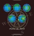 around the world the dark background vector image