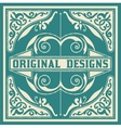 Baroque design with floral details and ornaments vector image vector image