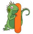 Alphabet I with iguana cartoon vector image