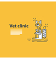 Animal health care veterinary concept vector image