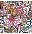 Beautiful floral paisley seamless pattern vector image